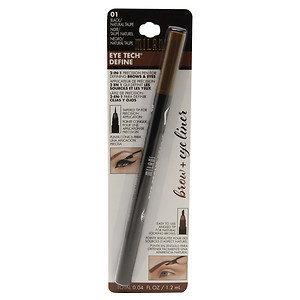 Milani Eye Tech Define 2-in-1 Brow + Eyeliner Felt-Tip Pen, Black / Natural Taupe