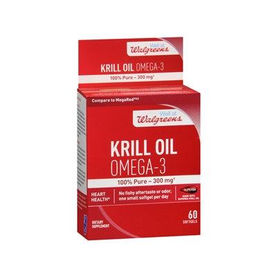 Walgreens Krill Oil Omega-3 300mg, Softgels, 60 ea
