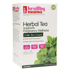 healthy mama Calm The Crazy! Herbal Tea for Pregnancy Wellness Support, 16 ea