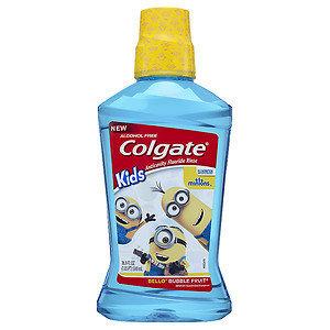 Colgate Kids Minions Bello Anticavity Fluoride Mouthwash, Bubble Fruit, 16.9 fl oz