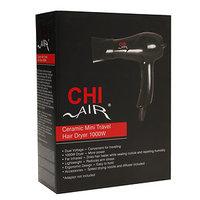 Chi Home CHI Air Ceramic Mini Travel Hair Dryer 1000W, Black