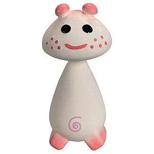 Vulli Chan Pie Gnon Natural Rubber Teether Soft Toy / Pie - Pink