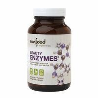 Sunfood Superfoods Beauty Enzymes, Veggie Caps, 90 ea