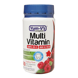 Yum-V's Complete Multivitamin Adult Jellies, Raspberry, 60 ea