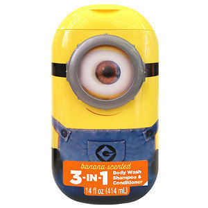Despicable Me Minions 3 in 1 Body Wash, Banana & Strawberry, 14 fl oz