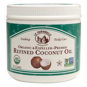 La Tourangelle Organic & Expeller Pressed Refined Coconut Oil, 15 oz