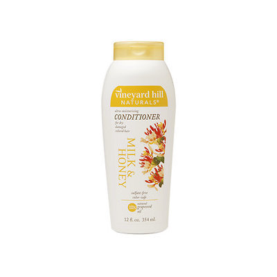 Vineyard Hill Naturals Conditioner, Milk & Honey, 12 oz