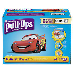 HUGGIES Pull-Ups Boys' Learning Designs Training Pants, Super Pack, (Choose Your Size)