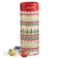 Lindt Lindor Holiday Trees Gift Tube, Assorted (Milk, Dark, White), 8.5 oz
