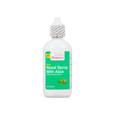 Walgreens Saline Nasal Spray With Aloe, 3 oz
