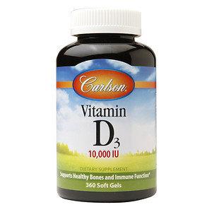 Carlson Vitamin D - 10000 IU - 360 Softgels