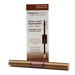 Mineral Fusion - Gray Root Concealer For Hair Light Brown - 0.28 oz.