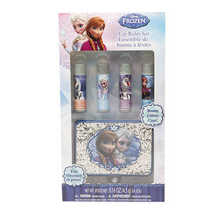 Disney Frozen Lip Balm with Glitter Case and 4 Flavors, 1 ea