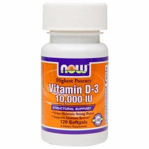 NOW Foods Vitamin D-3 10000 IU - 120 Softgels