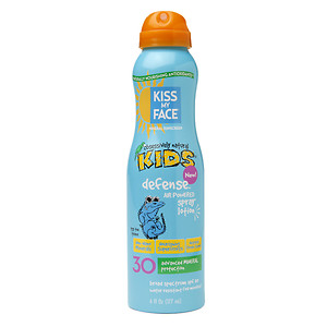 Kiss My Face Kids Defense Mineral Air Powered Spray Lotion SPF 30, 6 fl oz