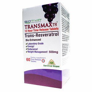 Biotivia - Transmax TR Timed Release Trans-Resveratrol 500 mg. - 60 Tablets