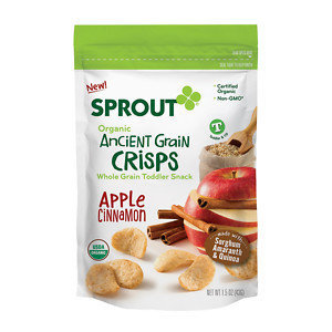 Sprout Crisps, Apple Cinnamon, 1.5 oz