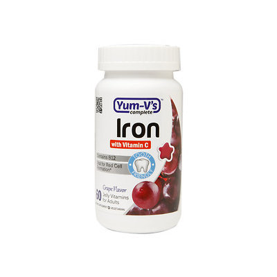 Yum-V's Complete Iron with Vitamin C Adult Jellies, Grape, 60 ea