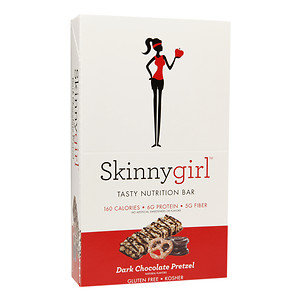 Skinnygirl Tasty Nutrition Bar, 12 pk, Dark Chocolate Pretzel, 1.4 oz