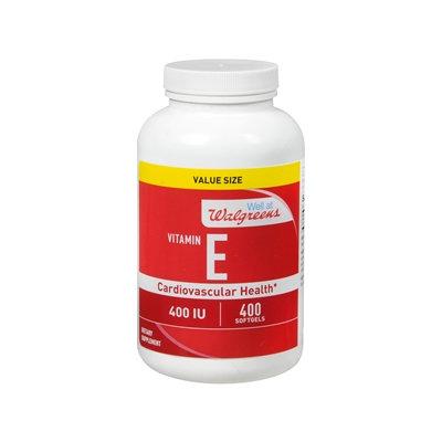 Walgreens Vitamin E 400 IU, Softgels, 400 ea