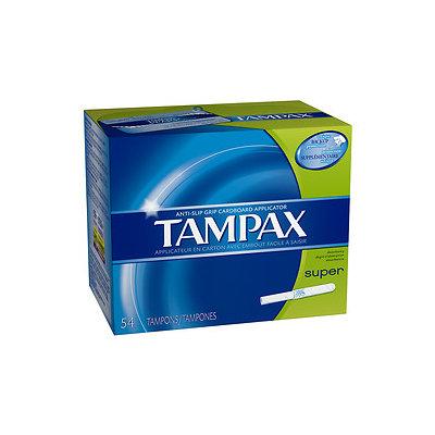 Tampax Tampons with Cardboard Applicators, Super, 54 ea