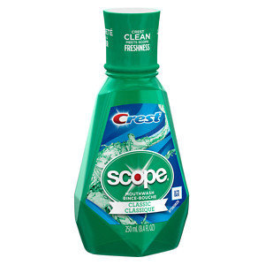 Crest Plus Scope Classic Mouthwash, Mint, 8.45 oz