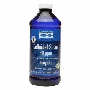 Trace Minerals Research Colloidal Silver Liquid 30 ppm, 16 oz