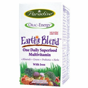 Paradise Herbs Orac-Energy Multi with Iron - 60 vcaps