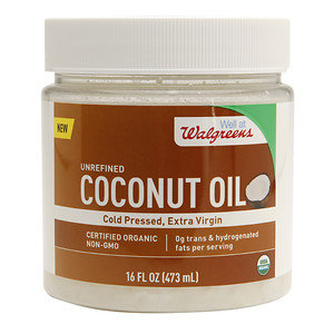 Walgreens Unrefined Coconut Oil, 16 oz