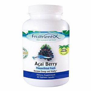 FruitrientsX - Acai Berry Freeze Dried Fresh - 60 Vegetarian Capsules
