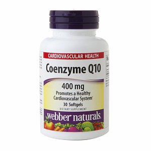 Holista Webber Naturals Coenzyme Q10 400mg, Softgels, 30 ea