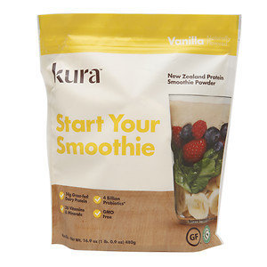 Kura New Zealand Protein Smoothie Powder, Vanilla, 16.9 oz