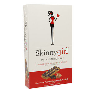 Skinnygirl Tasty Nutrition Bar, Chocolate Peanut Butter with Sea Salt, 12 pk, 1.4 oz
