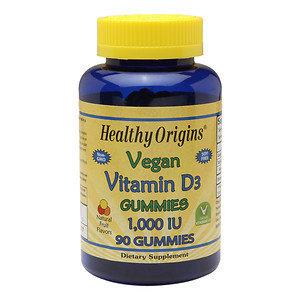 Healthy Origins Vitamin D3 1,000 IU, Vegan Gummies, 90 ea