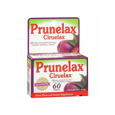 Prunelax Ciruelax Laxative, Tablets, 60 ea