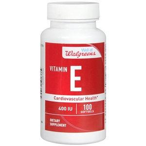 Walgreens Vitamin E 400 IU Cardiovascular Health, Softgels