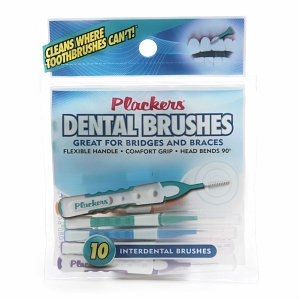 Plackers Dental Brushes, Interdental Brushes, 10 ea