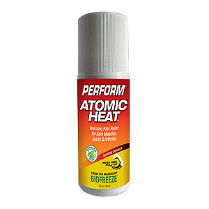 Perform Atomic Heat Warming Pain Relief Mess Free Roll-On, White, 3 oz