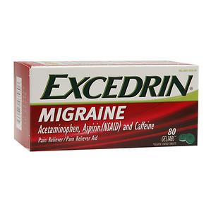 Excedrin Migraine Pain Reliever Geltabs, 80 ea