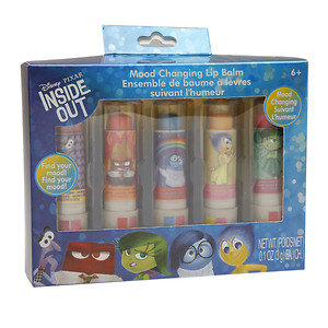 Disney Pixar Inside Out Mood Changing Lip Stick Balms, Assorted, 1 set
