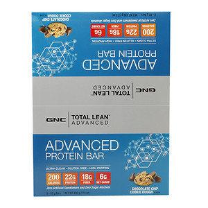 GNC Total Lean Advanced Protein Bar 22g, Chocolate Chip Cookie Dough, 8 ea