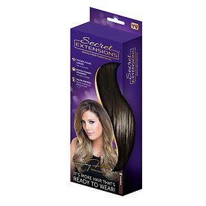 Secret Extensions Thicker, Fuller, Longer Hair, Brown/ Black, 1 ea