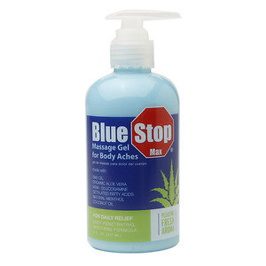 Blue Stop Max Massage Gel for Body Aches, 8 oz