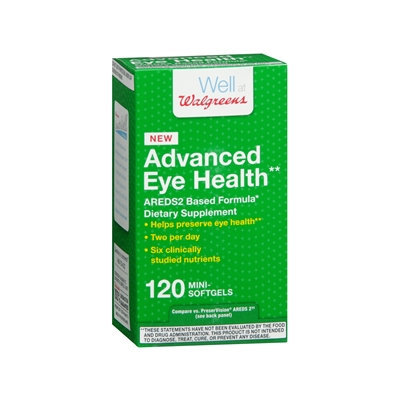 Walgreens Eye Health AREDS2 Based Formula, Softgels, 120 EA