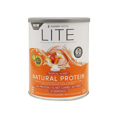 Designer Whey LITE Natural 10g Protein, Tropical Sorbet, 9.03 oz