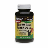 Mason Natural, Horny Goat Weed Plus, 60 Capsules