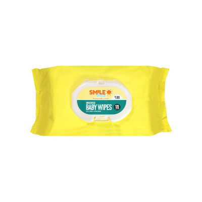 Smile & Save Baby Wipes, Unscented, 120 ea
