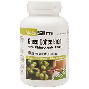 MetaSlim Green Coffee Bean 400mg, Vegetarian Capsules, 50 ea