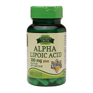 Nature's Truth Alpha Lipoic Acid 300mg Plus Biotin Optimizer, Capsules, 60 ea