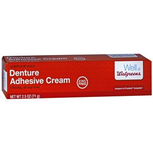 Walgreens Denture Adhesive Cream, 2.5 oz
